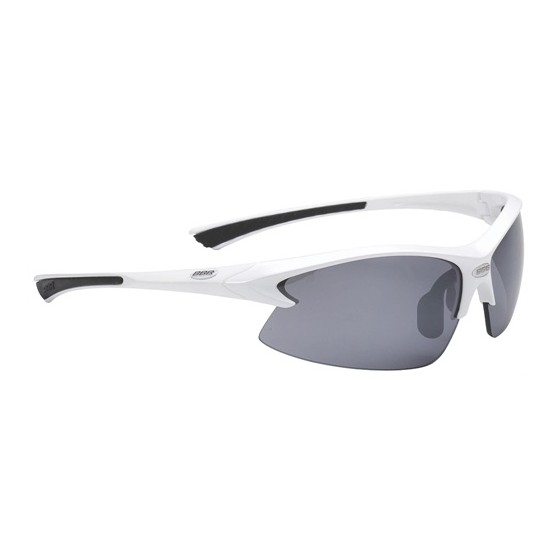 Очки солнцезащитные BBB Impulse PC Smoke flash mirror lens black tips white (BSG-38)