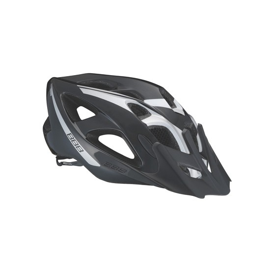 Летний шлем BBB Elbrus with visor black silver (BHE-34)