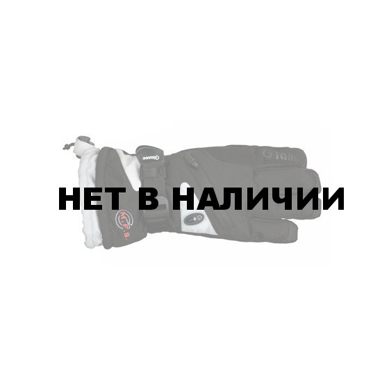 Перчатки горные GLANCE Fighter Junior (black/silver) черный/серый