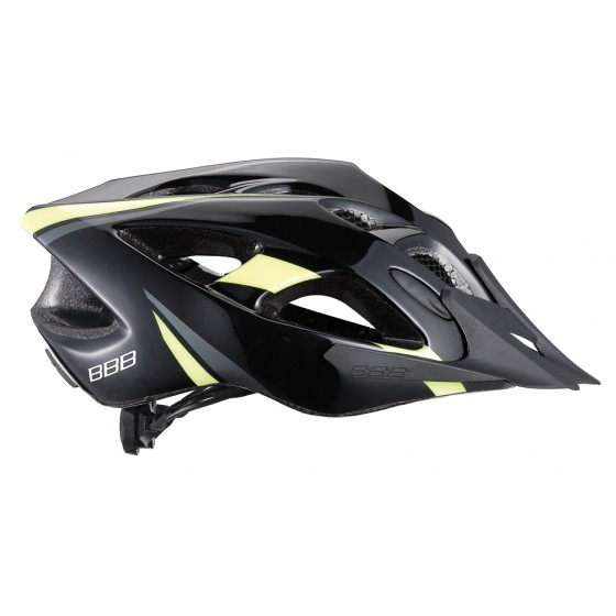 Летний шлем BBB Elbrus with visor matt black/neon yellow (BHE-34)