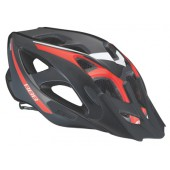 Летний шлем BBB Elbrus with visor black red (BHE-34)