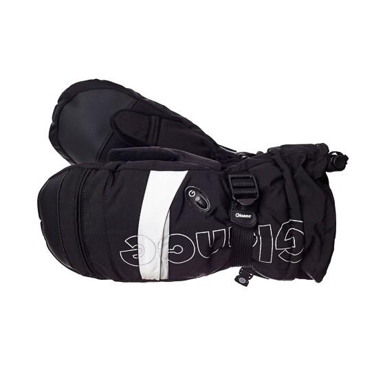 Варежки GLANCE Element Mitten (black/white) черный/белый