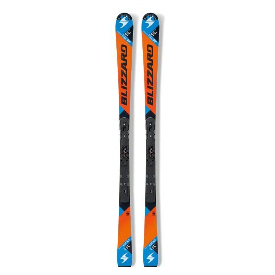 Горные лыжи Blizzard 2015-16 SL FIS-RACING (FLAT+PLATE) ORANGE-BLACK-BLUE