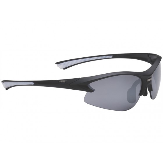 Очки солнцезащитные BBB Impulse small PC Smoke flash mirror lens white tips matt black (BSG-38S)