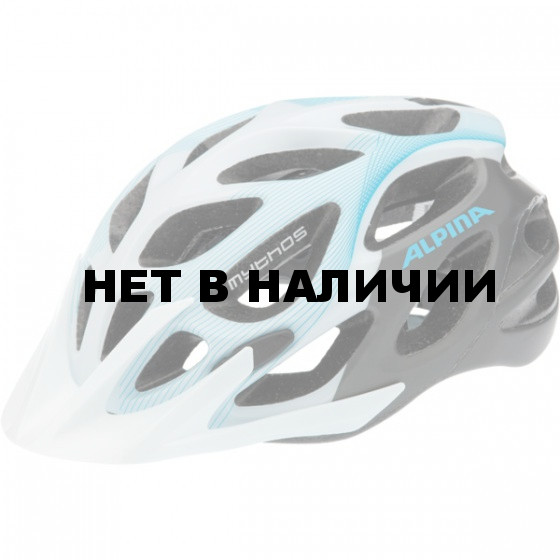 Летний шлем ALPINA Mythos 2.0 L.E. white-titanium-lightblue