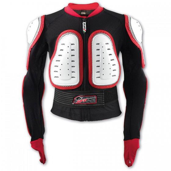 Защитная куртка NIDECKER 2016-17 Predator Jacket Kids white/red
