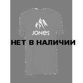Футболка сноубордическая Jones 2015-16 BASIC TEE PLAIN BLACK
