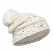 Шапка BUFF 2016-17 JUNIOR KNITTED & POLAR HAT BUFF® DARSY STARWHITE-STARWHITE-Standard