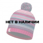 Шапка BUFF 2016-17 JUNIOR KNITTED & POLAR HAT BUFF® AMITY PINK CERISSE-PINK CERISSE-Standard