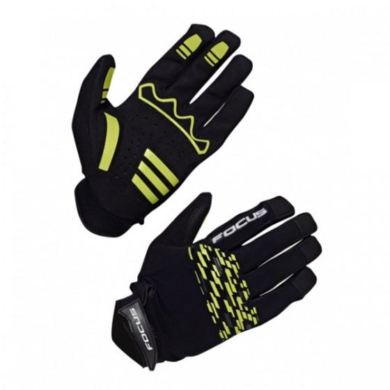 Перчатки велосипедные FOCUS AM GLOVES black/green