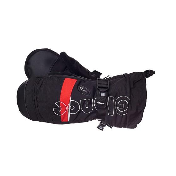 Варежки GLANCE Element Mitten (black/red) черный/красный