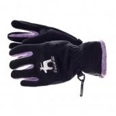 Перчатки флис GLANCE 2012-13 Frosti black/lilac (черный/сиреневый)