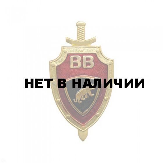 Нагрудный знак ВВ щит красный фон пантера металл
