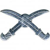 Эмблема петличная Казачья нового образца серебро металл