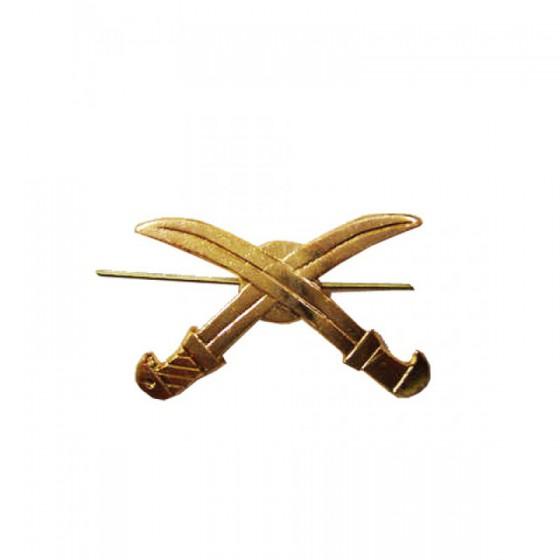 Эмблема петличная Казачья нового образца золото металл