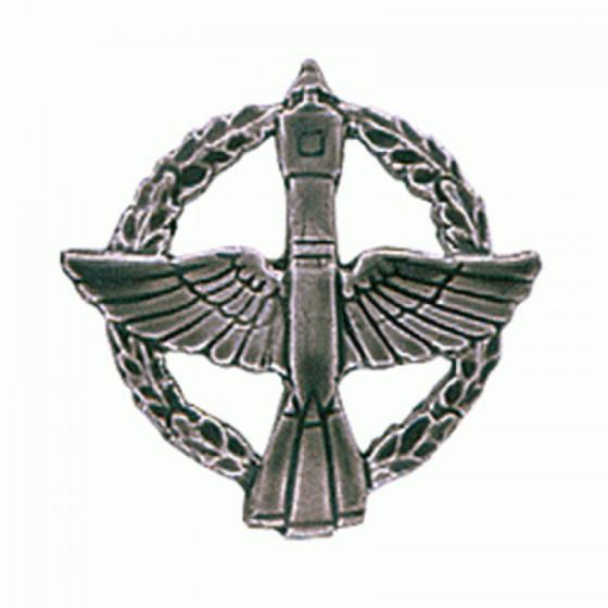 Эмблема петличная Космические войска полевая металл