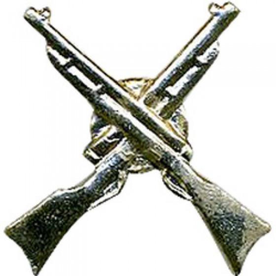 Эмблема петличная Ружья металл