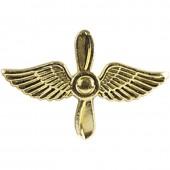 Эмблема петличная авиация ВВС нового образца повседневная металл