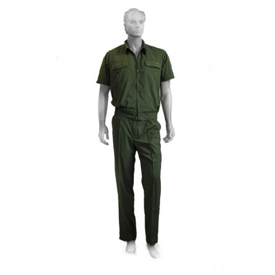Костюм летний МПА-36 штабной с коротким рукавом Зеленый, ткань Панацея