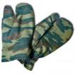 Перчатки трехпалые камуфлированные