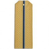 Погоны авиации ВМФ кремовые с 1 голубым просветом