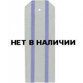 Погоны из сорочечной ткани ФСБ оливковые с 2 васильковыми просве