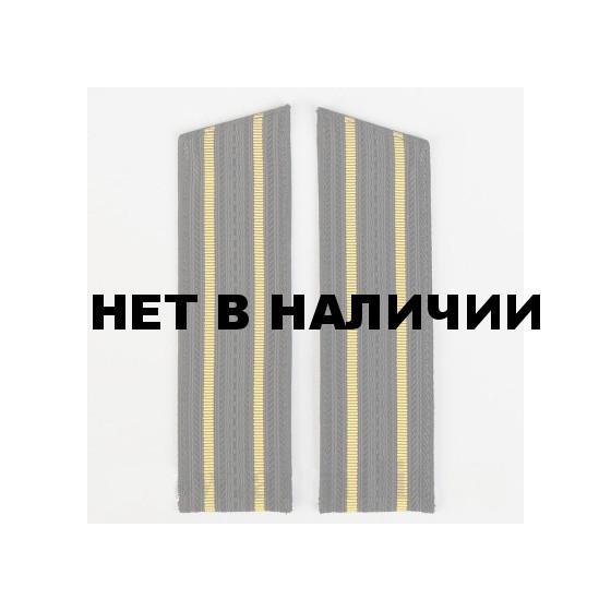 Погоны ВМФ ст.офиц.состава черные с 2 желтыми просветами