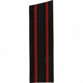 Погоны Морской пехоты черные с 2 красными просветами