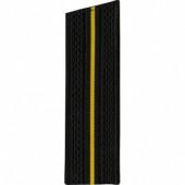 Погоны ВМФ черные с 1 желтым просветом