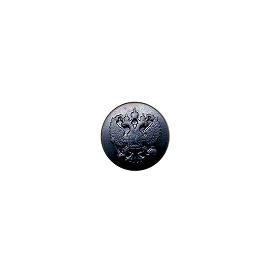 Пуговица диам. 14 мм чёрная без ободка металл