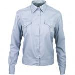 Рубашка форменная-М, длинный рукав, светло-голубая