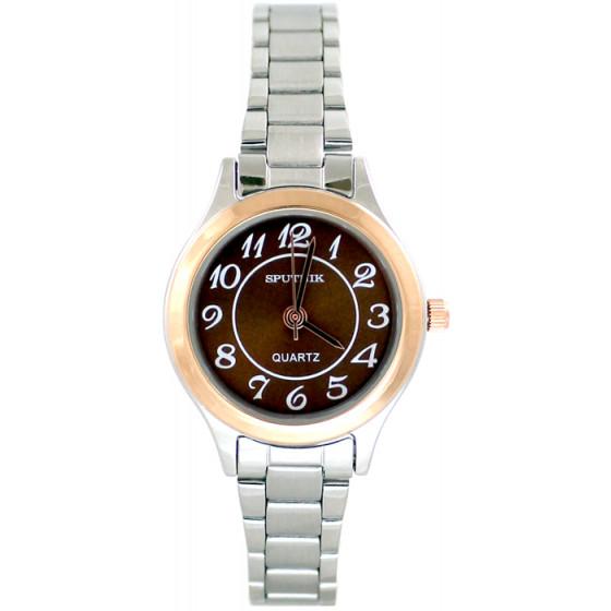 Женские наручные часы Спутник Л-800060/6 (корич.)