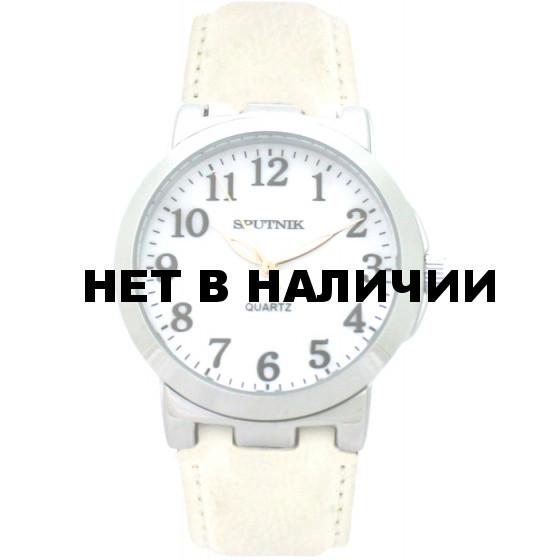 Наручные часы Спутник Л-201010/1 (перл.) б.р.