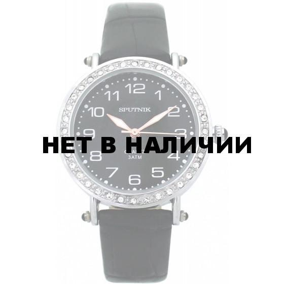 Наручные часы Спутник Л-300700/1 (черн.) ч.р.