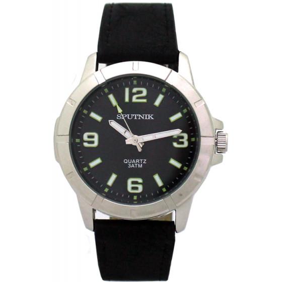 Наручные часы Спутник М-858071/1 (черн.,зел.оф.)
