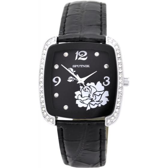 Наручные часы Спутник Л-300441/1.3 (черн.) ч.р.