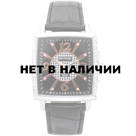 Наручные часы Спутник Л-300520/1 (черн.) ч.р.