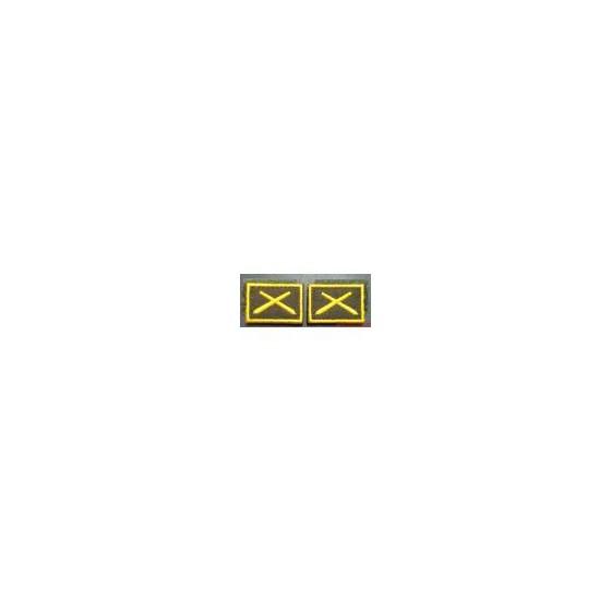 Эмблема петличная РВиА нового образца повседневная вышивка шёлк