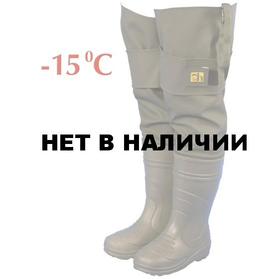 Сапоги рыбацкие мужские Haski-light(ЭВА) С095(-15С) олива(винитол)