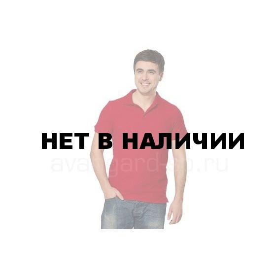 Рубашка-поло с манжетами, 200 г/м.кв., 100% хлопок (цв.красный)