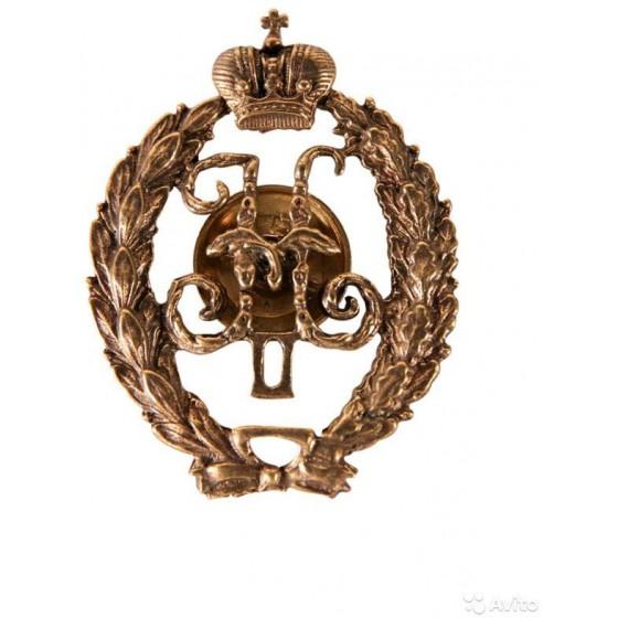 Нагрудный знак Вензель Николая II металл