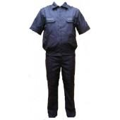 Костюм летний МПА-36 штабной с коротким рукавом Синий, ткань Панацея