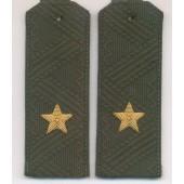 Погоны генерал-майор МО с хлястиком повседневные