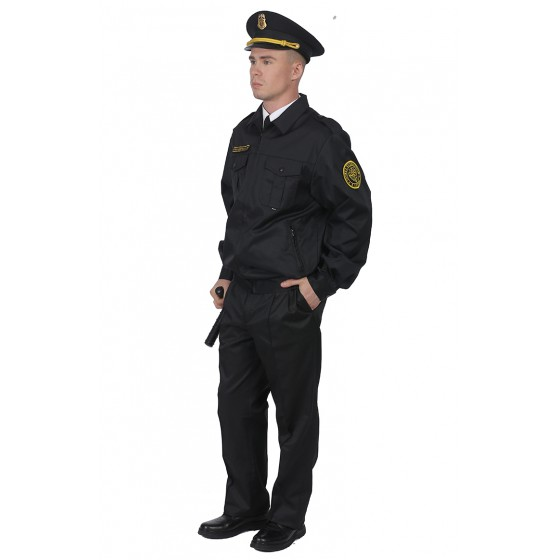 1208/1108 костюм для охраны мужской б/п глянцевая смесовая