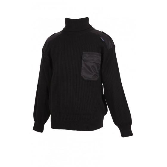 4304А свитер с высоким воротом (с отворотом) п/ш