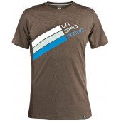 Stripe Logo T-Shirt M Brown, H04BR