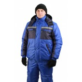 Костюм мужской Стим-Ямал зимний васильковый с синим