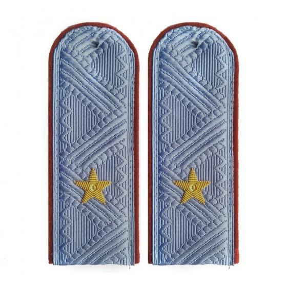 Погоны генерал-майор ФСИН на серую рубашку повседневные