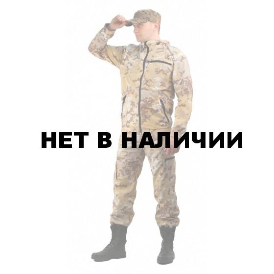 """Костюм мужской """"Турист 1"""" летний, ткань Тиси сорочечная-облегченная, камуфляж """"Песок"""""""