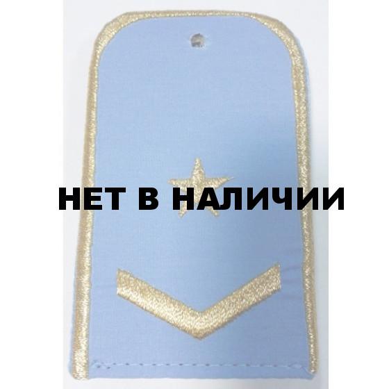 Погоны РЖД 1 лычка 1 звезда голубые